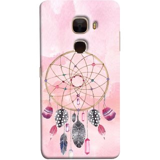 FUSON Designer Back Case Cover For LeTv Le Max :: LeEco Le Max  (Pink Circle Design Birds Feathers Diamonds Ruby )