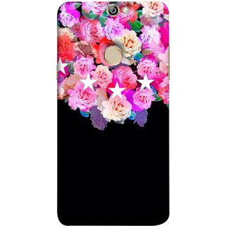 FUSON Designer Back Case Cover For Coolpad Max A8 ( Background Shining Flowers Floral Patterns With Stars)