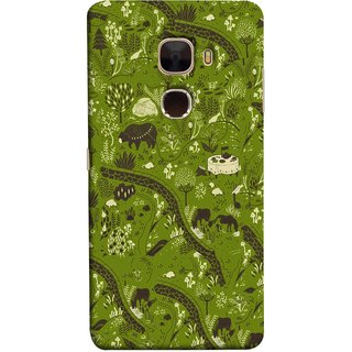 FUSON Designer Back Case Cover For LeTv Le Max :: LeEco Le Max  (Green Grass Cow Mushrooms Leaves Branches )