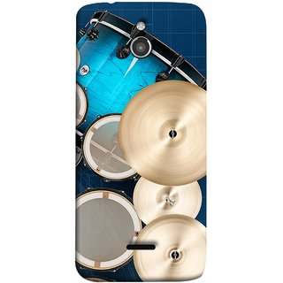 FUSON Designer Back Case Cover For InFocus M2 (Drum Set Musical Instrument Four Piece Shell Pack)