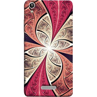 FUSON Designer Back Case Cover For Lava Pixel V1 (Heart Shape Pink Leaves Rivers Artist Perfect Waves )