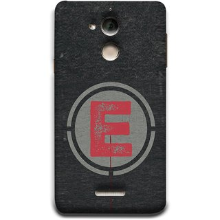 FUSON Designer Back Case Cover For Coolpad Note 5 (Dark Alphabet Circle Vintage Grey Circle Pattern E)