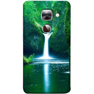 FUSON Designer Back Case Cover For LeEco Le 2s :: LeEco Le 2 Pro :: LeTV 2 Pro :: Letv 2 :: LeEco Le 2 (Mountains & Waterfalls Images Green Lake Desktop)