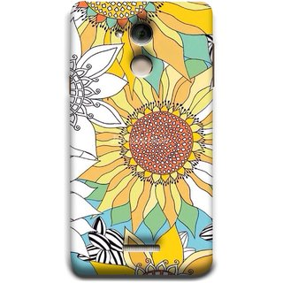 FUSON Designer Back Case Cover For Coolpad Note 5 (Sunflowers Flowers Green Grass Beautiful Painting Canvas)