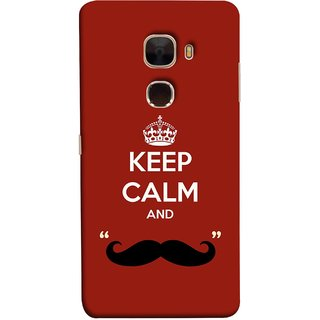 FUSON Designer Back Case Cover For LeTv Le Max :: LeEco Le Max  (Beautiful Mustache Always Stay Silent Work Resolve)