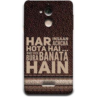 FUSON Designer Back Case Cover For Coolpad Note 5 (Waqt Usse Bura Banata Hai Brown Background)