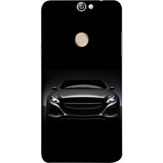 FUSON Designer Back Case Cover For Coolpad Max A8 (Road Black White Clouds Beautiful Road Blue Side Mirror)