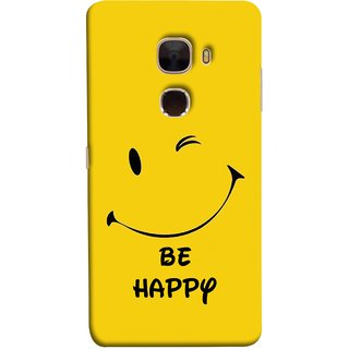 FUSON Designer Back Case Cover For LeTv Le Max :: LeEco Le Max  (Yellow Background Cute Smiling Smiley Big Smile)