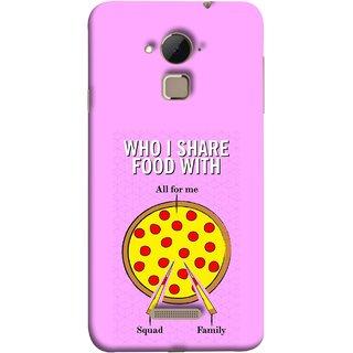 FUSON Designer Back Case Cover For Coolpad Note 3 Lite :: Coolpad Note 3 Lite Dual SIM (Pizza Hut Domino Tomato Pizza Cheese Share Sharing)