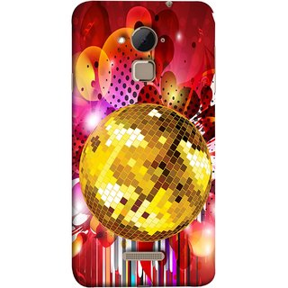 FUSON Designer Back Case Cover For Coolpad Note 3 Lite :: Coolpad Note 3 Lite Dual SIM (Music Disco Party Poster Red Shiny Abstract Party Design)