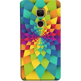 FUSON Designer Back Case Cover For LeTv Le Max :: LeEco Le Max  (Polygonal Background Colorful Abstract Geometric Best)