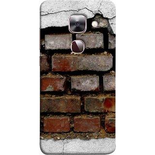 FUSON Designer Back Case Cover For LeEco Le Max 2 :: LeTV Max 2 (Peeling Plaster Bricks White Cement Broken Small Big)