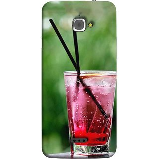 FUSON Designer Back Case Cover For InFocus M350 (Glass Full Of Cold Fresh Squeezed Watermelon Juice)