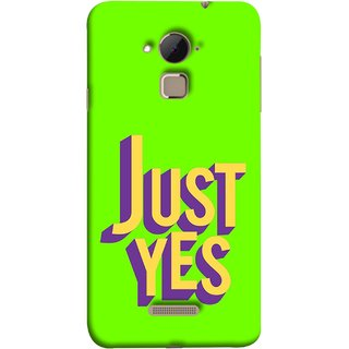 FUSON Designer Back Case Cover For Coolpad Note 3 Lite :: Coolpad Note 3 Lite Dual SIM (Just Green Say Always To Problems Solve Resolve)
