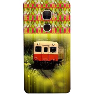 FUSON Designer Back Case Cover For LeTv Le Max :: LeEco Le Max  (Old Trains Sunshine Yellow Flowers Express Mail )