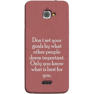 FUSON Designer Back Case Cover For InFocus M350 (Important Only You Know What Is Best For You)