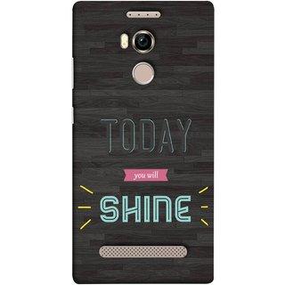 FUSON Designer Back Case Cover For Gionee Elife E8 (Aaj Tum Chamkoge Pakka You Will Rock)