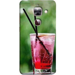 FUSON Designer Back Case Cover For LeEco Le Max 2 :: LeTV Max 2 (Glass Full Of Cold Fresh Squeezed Watermelon Juice)