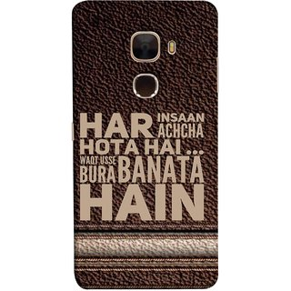 FUSON Designer Back Case Cover For LeTv Le Max :: LeEco Le Max  (Waqt Usse Bura Banata Hai Brown Background)