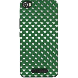 FUSON Designer Back Case Cover For Lava Iris X8 (Small Lot Of Stars Green Back Shining Glossy)