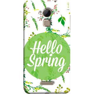 FUSON Designer Back Case Cover For Coolpad Note 3 Lite :: Coolpad Note 3 Lite Dual SIM (Season Banner With Fresh Green Leaves Showering)