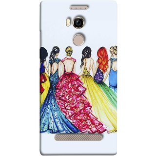 FUSON Designer Back Case Cover For Gionee Elife E8 (Backless Prom Dress Gowns Dolls Curly Hairs Long)