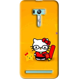 Snooky Printed Kitty Study Mobile Back Cover For Asus Zenfone Selfie - Multi