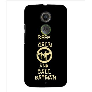 Snooky Printed Keep Calm Mobile Back Cover For Moto X 2nd Gen. - Multi