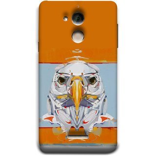 FUSON Designer Back Case Cover For Coolpad Note 5 (Stearing Eyes Deadly Look Canvas Vision Bird Sky High)