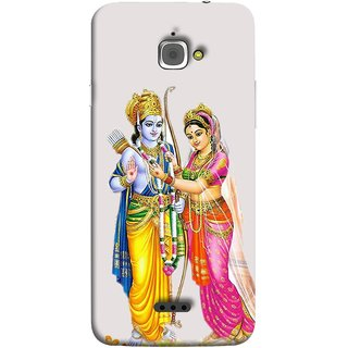 FUSON Designer Back Case Cover For InFocus M350 (Ramchandra Vivah King Maharaja Ayodhya Sita)