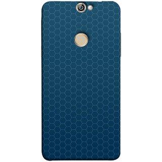 FUSON Designer Back Case Cover For Coolpad Max (Hexa Design Honey Bee Hive Art Style Blue)