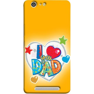 FUSON Designer Back Case Cover For Gionee Marathon M5 (Daddy Father Stars Heart Colourful Lovely Family)