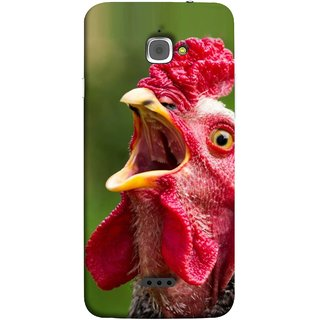 FUSON Designer Back Case Cover For InFocus M350 (A Crowing Chicken Green Grass Village Morning )