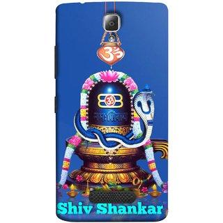 FUSON Designer Back Case Cover For Lenovo A2010 (Shri Ganesh Shivling Om Lotus Nag Abhishek)