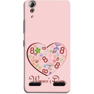 FUSON Designer Back Case Cover For Lenovo A6000 :: Lenovo A6000 Plus :: Lenovo A6000+ (Womans Diwas Mahila Diwas Prem Aaiche Mom Love)