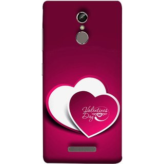 FUSON Designer Back Case Cover For Gionee S6 (Just Pinky Say Always I Love You Red Hearts Couples)