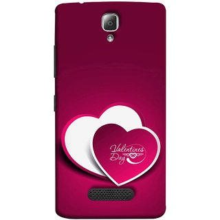 FUSON Designer Back Case Cover For Lenovo A2010 (Just Pinky Say Always I Love You Red Hearts Couples)