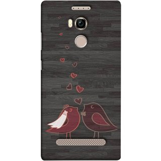 FUSON Designer Back Case Cover For Gionee Elife E8 (Lovely Pair Of Cute Birds Kissing Hairband )