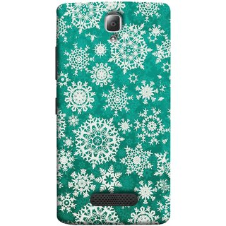 FUSON Designer Back Case Cover For Lenovo A2010 (Different Size Winter Snow Enjoying Ornaments Green)