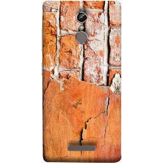 FUSON Designer Back Case Cover For Gionee S6 (Peeling Plaster Bricks White Cement Broken Small Big)