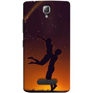 FUSON Designer Back Case Cover For Lenovo A2010 (Milky Way Stars Love Couples Lovers Family Love)