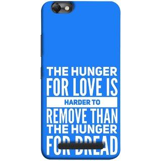 FUSON Designer Back Case Cover For Lenovo Vibe C :: Lenovo A2020 (Love Bhukh Pyar Hunger For Bread Roti Hard Soft)