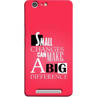 FUSON Designer Back Case Cover For Gionee Marathon M5 (Chote Chote Badlav Bada Farak Best Quotes Sayings)