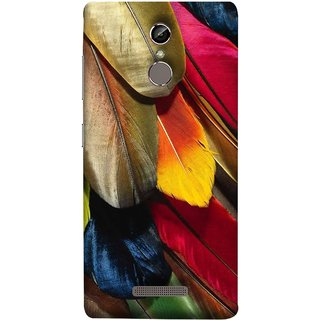 FUSON Designer Back Case Cover For Gionee S6 (Birds Feathers Parrot Peacock Long Blue Colour)