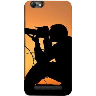 FUSON Designer Back Case Cover For Lenovo Vibe C :: Lenovo A2020 (Life Through A Lens Sunset Silhouette Camera Lens)