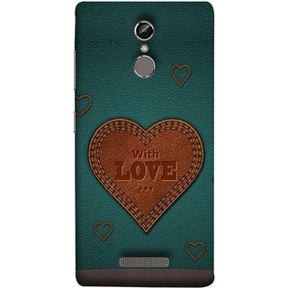 FUSON Designer Back Case Cover For Gionee S6 (Dil Se Tumhare Sath Always Leather Jacket Hearts)