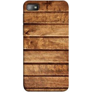 FUSON Designer Back Case Cover For BlackBerry Z10 (Wood Furniture Table Door Solid Beautiful Art Wallpaper)
