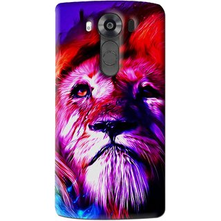 Snooky Printed Freaky Lion Mobile Back Cover For Lg V10 - Multi
