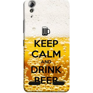 FUSON Designer Back Case Cover For Lenovo A6000 :: Lenovo A6000 Plus :: Lenovo A6000+ (Beer Sign Glasses Bubbles Daaru Drink Wine Vodka)