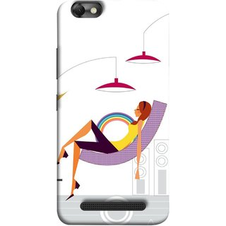 FUSON Designer Back Case Cover For Lenovo Vibe C :: Lenovo A2020 (Office Lights Shoes Mordern Speakers Beauty Parlor)